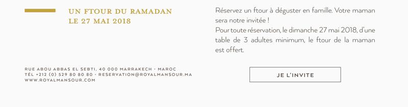 Un Ftour du Ramadan le 27 mai 2018